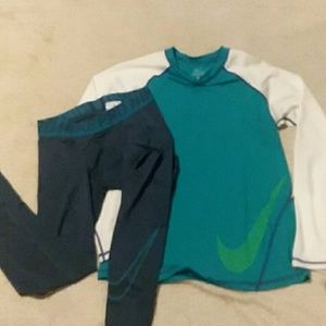 Nike joggers and top